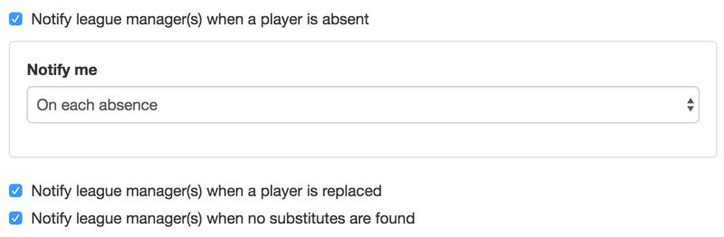 Advanced notifications.