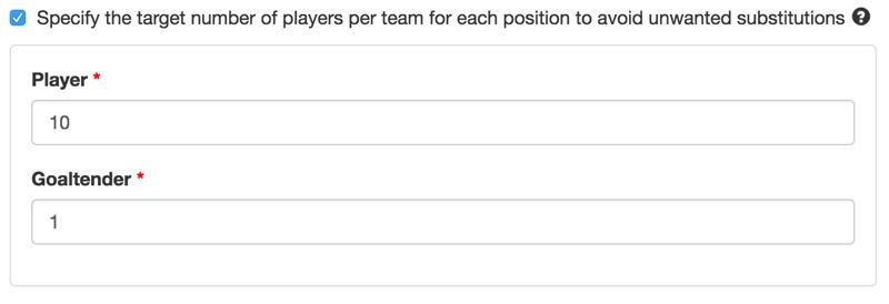 Minimal number of players parameter.